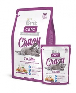 Brit Care Crazy kitten kurczak z ryżem 2kg