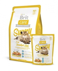 Brit Care Cat Sunny Beautiful Hair łosoś z ryżem 0,4kg